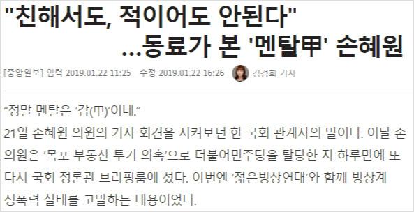 멘탈갑 손혜원 목포 부동산 논란, SBS와 좃선의 어거지! 미친X 멘탈갑 손혜원