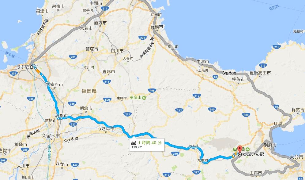 yufuin map 일본 온천여행 규슈 오이타 현의 유후인 온천거리