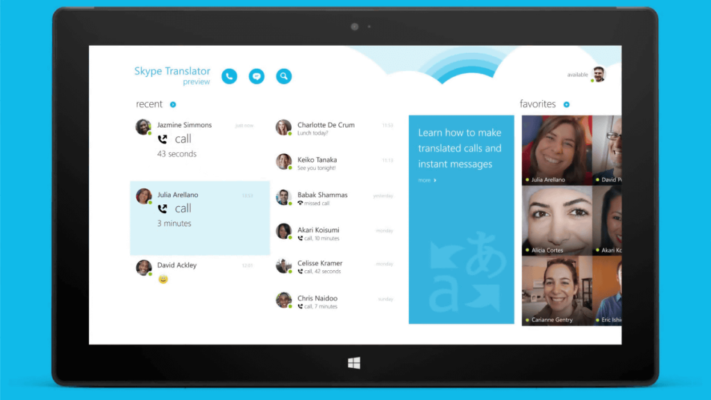 skype 1024x576 일본 스카이프 화상통화 실시간 일본어 번역 기능 제공