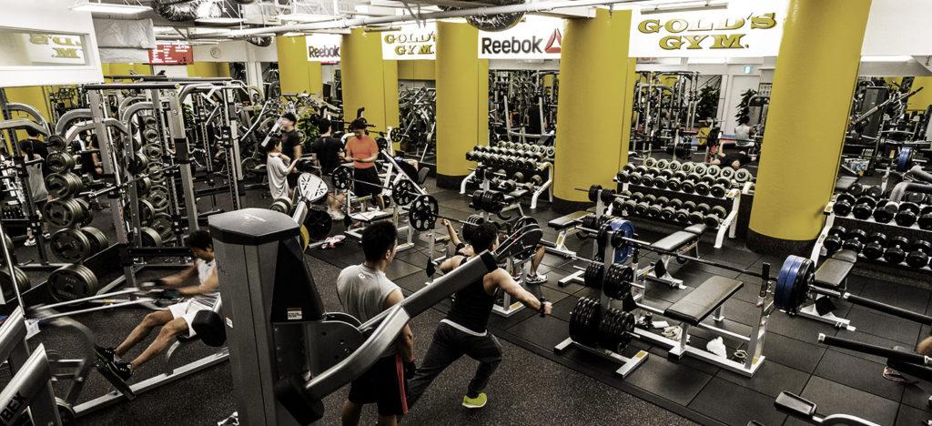gold gym 1024x468 후쿠오카 여행 헬스클럽 골드짐에서 운동 후 캐널시티