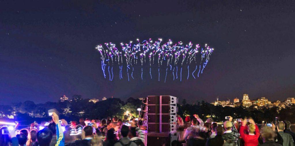Drone show 1024x507 나가사키 하우스텐보스, 인텔 드론 300대 라이트쇼 개최