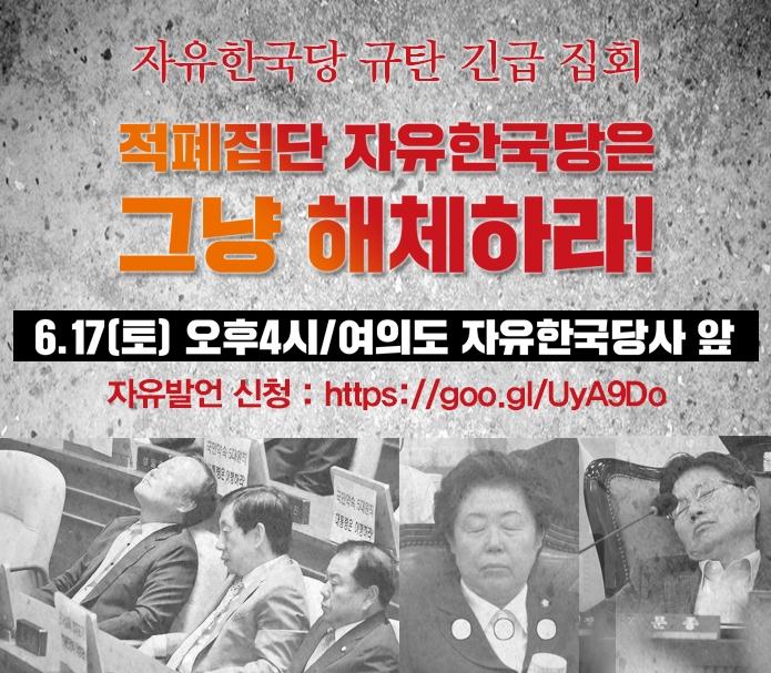 free korea party (직캠)자유한국당 규탄집회 핵사이다 자유 발언 2인