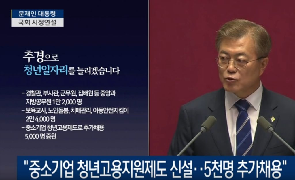 moon speech 1024x626 '일자리 창출' 문재인 대통령의 첫 국회 시정연설
