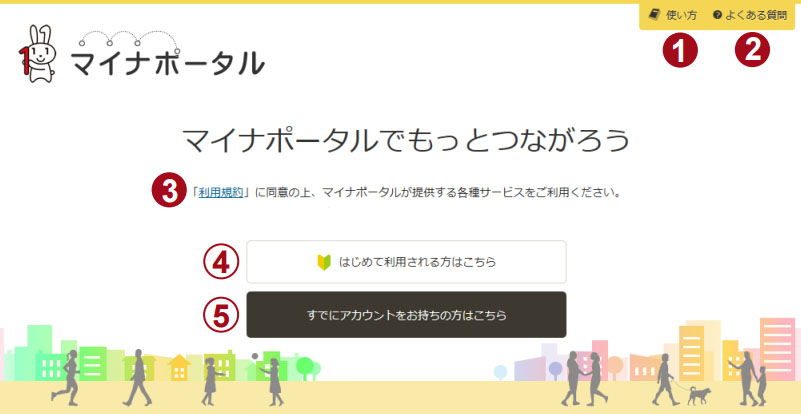 mynagojp 라인, 일본판 주민번호 마이넘버 포털과 연계서비스