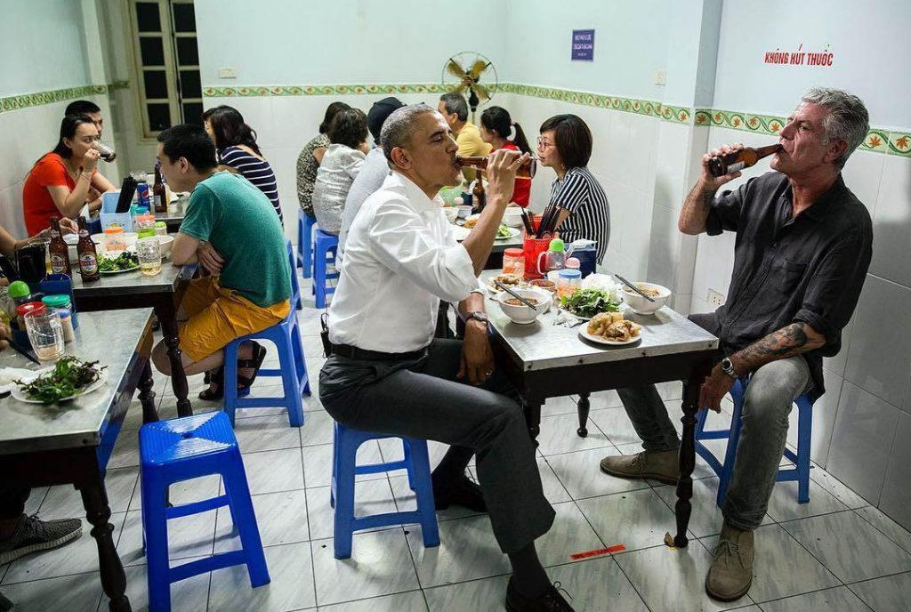 obama bun cha 1024x688 하노이에서 맛보는 4천원의 행복 분짜(Bun Cha)
