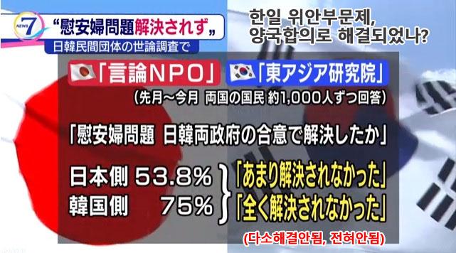 위안부 합의 한일 여론조사 [한일 여론조사] 일본인의 한국에 대한 인상 악화, 한국은 개선