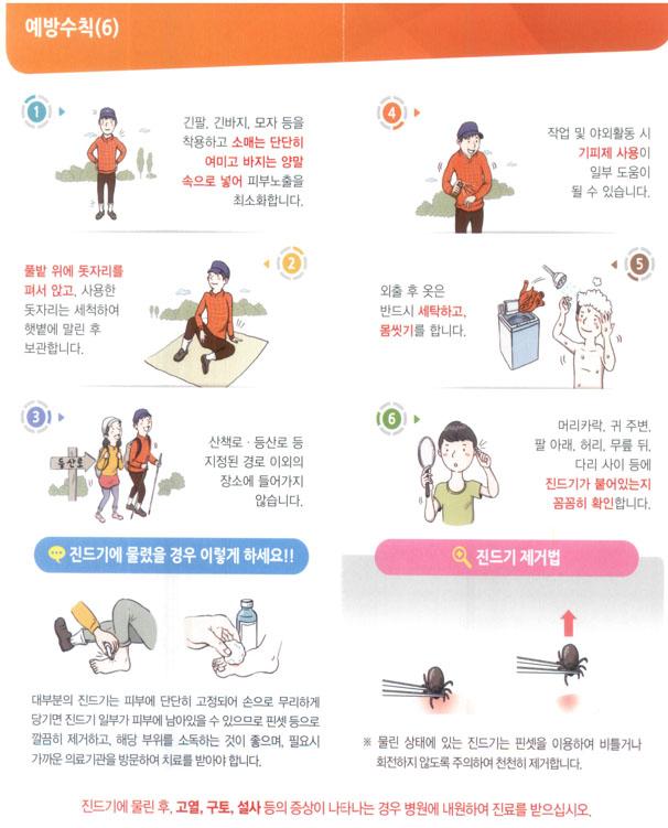 질병관리본부 SFTS 예방 홍보 포스터 애완동물에 의한 참진드기(살인진드기) 감염 사례 일본에서 첫 발견