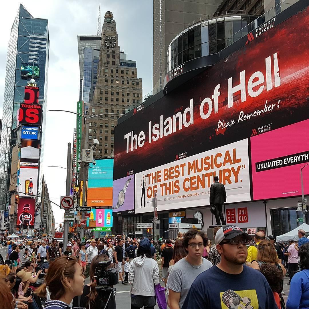 19624503 1951107245173260 5739252471365107712 n 뉴욕 타임즈 스퀘어 전광판에 군함도의 진실 광고