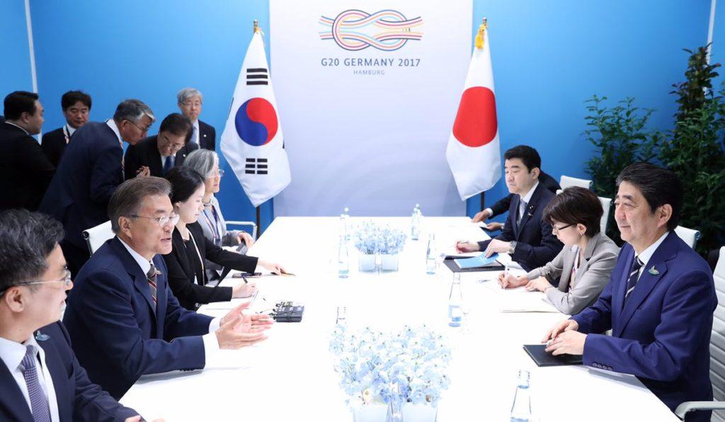 G20 한일정상회담 1024x596 문재인 대통령, 아베총리 독일에서 첫 정상회담 일본뉴스
