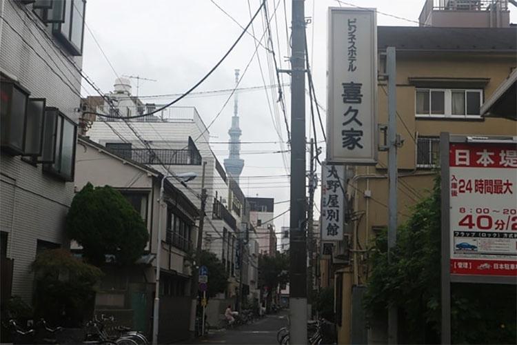 도쿄 빈민가 산야 스카이트리 도쿄 산야(山谷) 도시빈민가와 일본의 3대 빈민거리