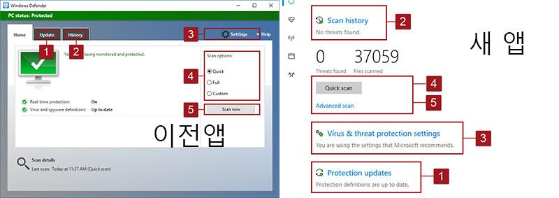 Windows Defender 바이러스 백신 윈도우10 크리에이터 업데이트 1703 출시