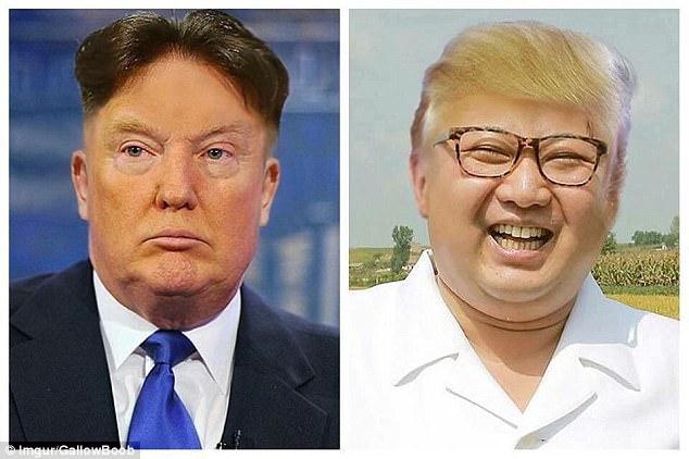 김정은 트럼프 헤어스타일 교환 트럼프는 미치광이! 북한 김정은의 성명 전문 [한영일 버전]
