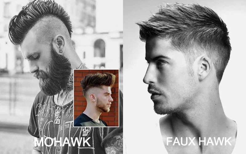 Mohawk vs Faux Hawk [남성] 미용실에서 헤어커트 할 때 사용하는 영어표현