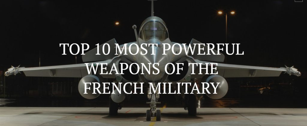 french weapons 1024x421 세계 군사력 5위 프랑스의 우수한 군사무기 10