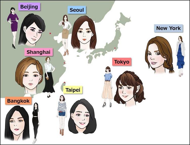 여성들의 메이크업 스타일 도쿄와 서울 여성의 메이크업에 대한 의식 비교