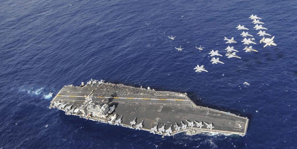 핵추진 항공모함 1024x515 트럼프 국회연설에 북한반응 나와...망발을 늘어놓았다.