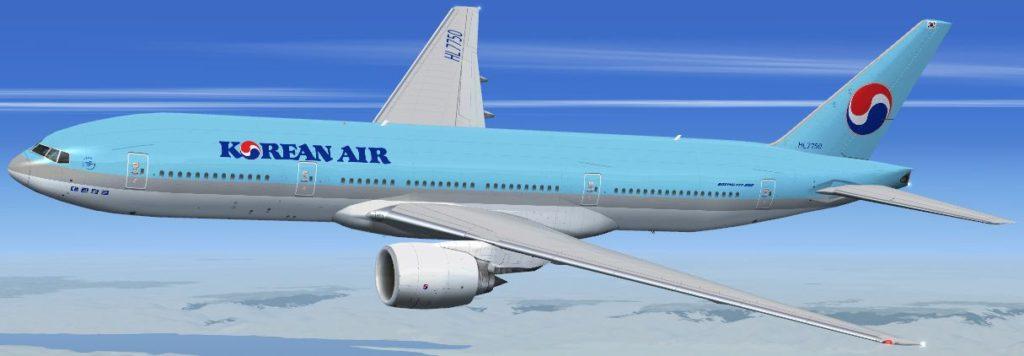 koreanair 777 200ER 1024x356 일본 나리타공항 착륙 대한항공 날개 부품 사라져..