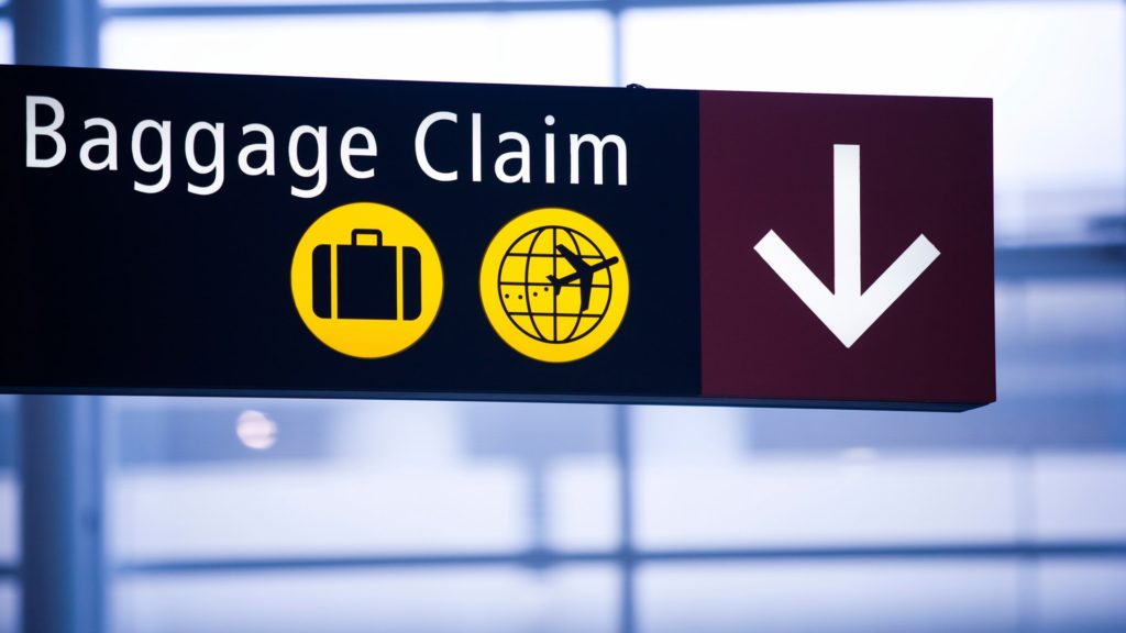 Baggage claim 1024x576 비행기에서 내려 수하물 빨리 찾는 팁! 진짜일까?