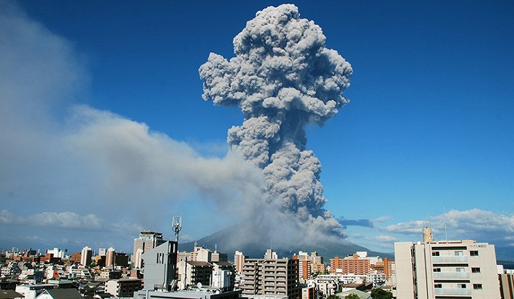 일본화산 분화 불의 땅 일본의 화산, 사쿠라지마산과 아소산