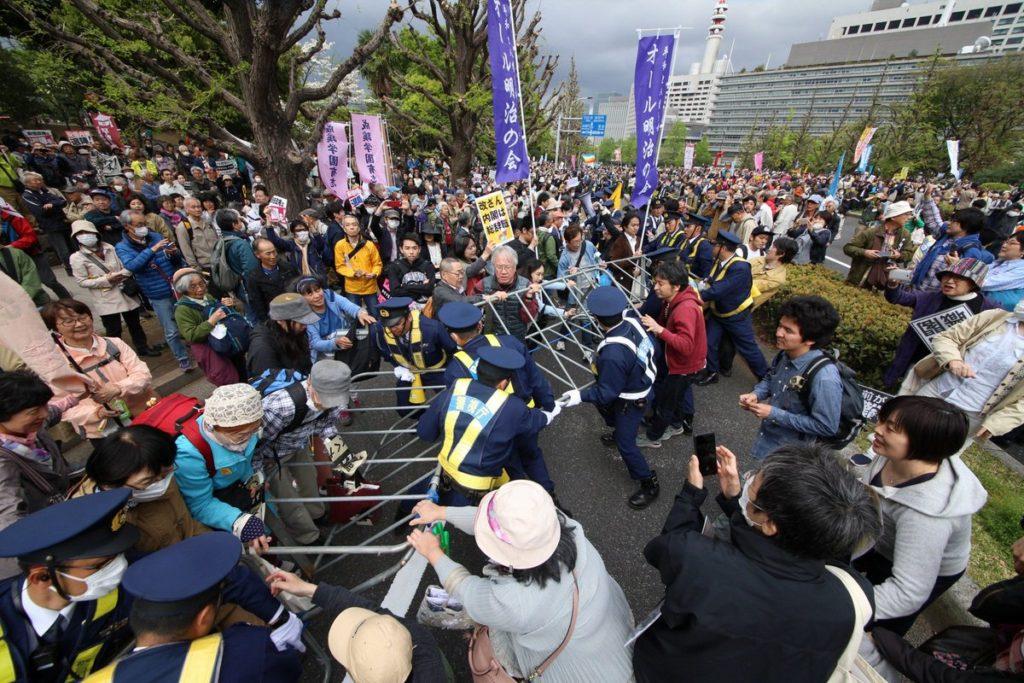 일본시위 1024x683 학원비리 진상규명과 아베퇴진! 일본시민들 주말 시위