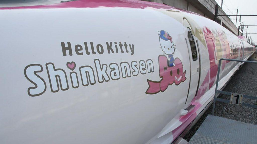 헬로키티 신칸센1 1024x576 JR서일본, 핑크리본의 헬로키티 신칸센 운행