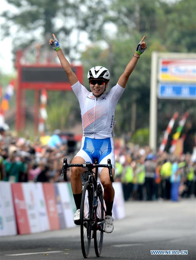 asiangame cycling winner 아시안게임 도로사이클의 여왕 나아름 선수