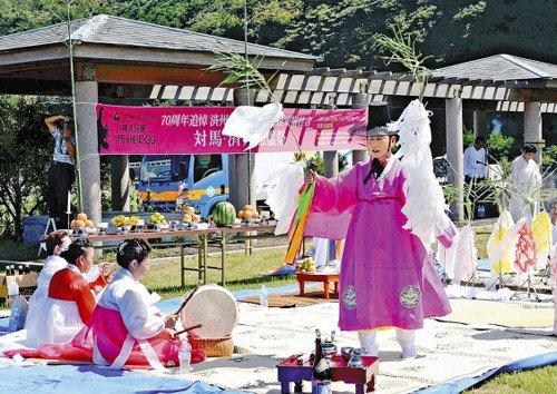 대마도 위령제 일본 대마도에서 제주 4·3 사건 희생자 위령제
