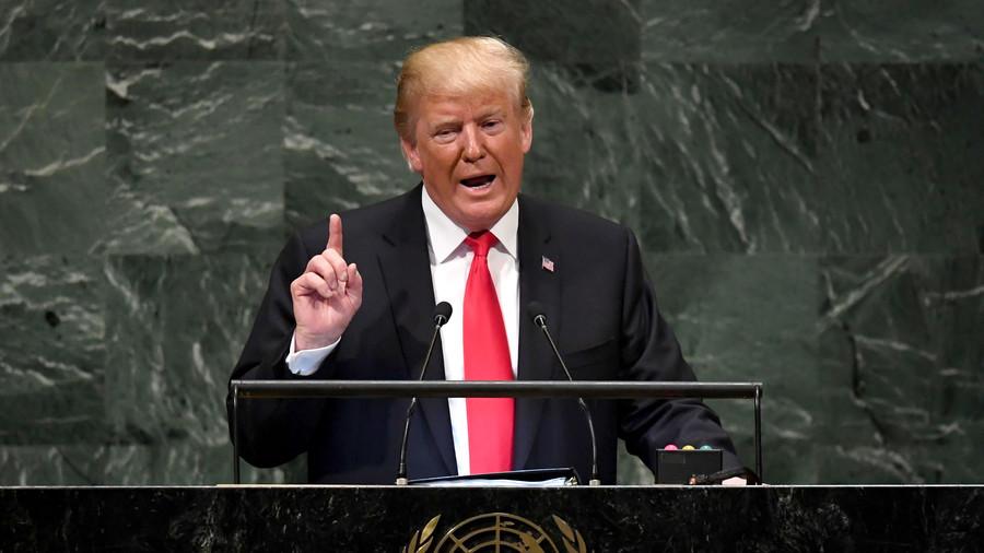 트럼프 유엔연설 트럼프 유엔 연설 문대통령과 김정은에 감사, 대북제재는 유지