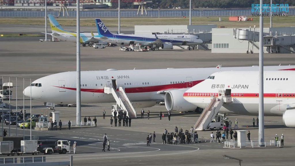신 일본정부전용기 1024x576 신구 일본정부전용기 하네다공항에 나란히 주기