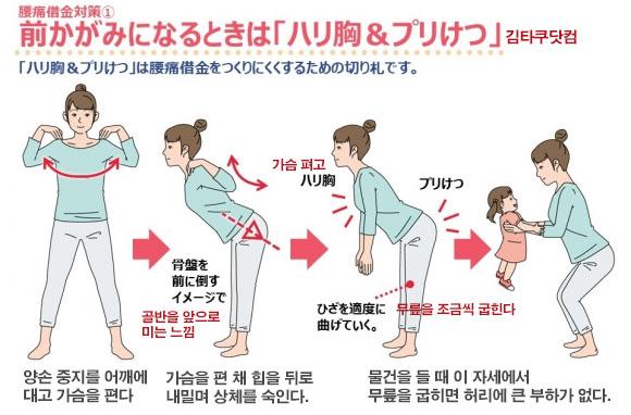 허리운동2 화제의 급성요통 치료! 허리통증 예방 3초 스트레칭 동작 및 자세