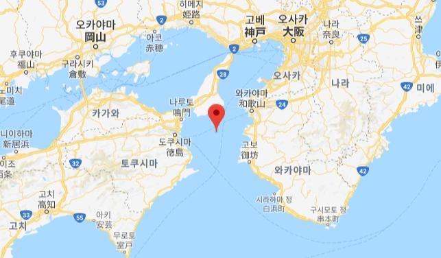 Kiisuido Strait 일본 난카이 해구와 홋카이도 동부에서 지진 발생