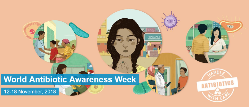 World Antibiotic Awareness Week 1024x442 항생제를 감기약으로 오인 심각! WHO 약제내성 예방주간