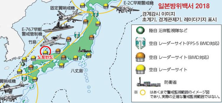 방위백서 해군 구축함(광개토대왕함) 사격관제 레이더로 일본 P1초계기 겨냥