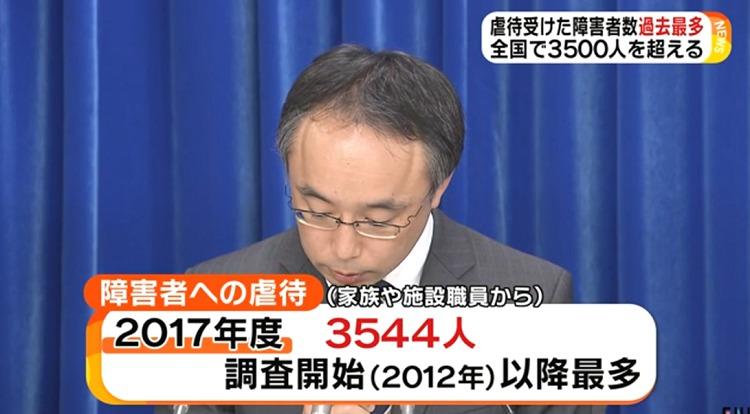 장애인학대 일본 장애인 학대 폭력건수 역대 최다 3544명
