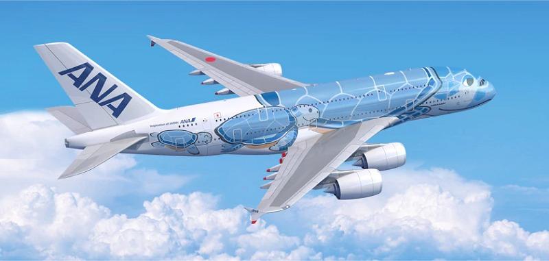 A380 일본 ANA항공사 세계 최대 에어버스 여객기 A380 공개