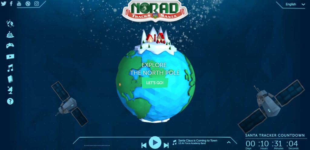 NORAD Santa Tracker 1024x495 산타 출발! 크리스마스 이브 NORAD와 구글의 산타추적기