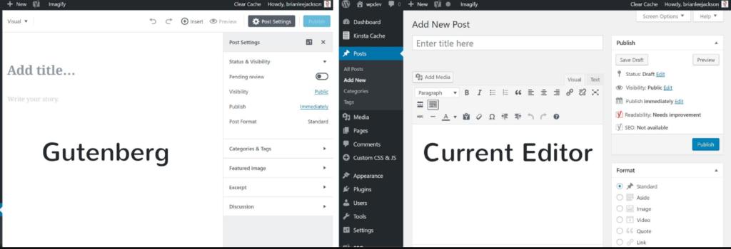 gutenberg wordpress 1024x350 워드프레스 5.0과 구텐베르크 에디터 비활성화 방법