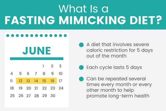 FastingMimickingDiet 월 5일 간헐적 단식의 포인트와 단식 모방 다이어트 FMD 식단
