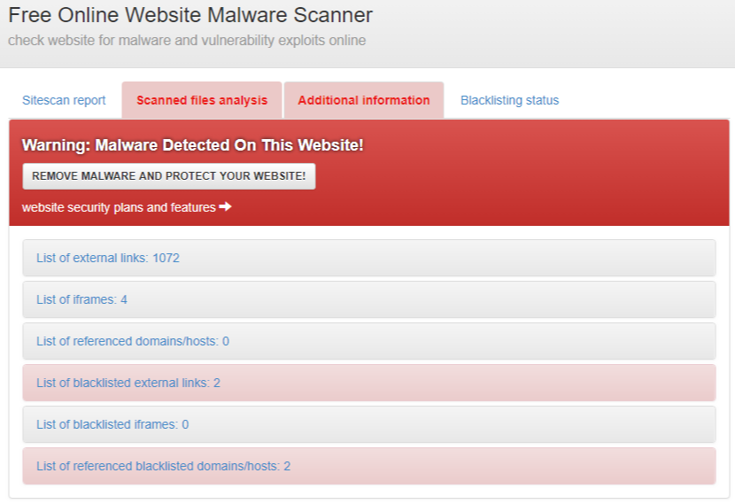 Online Website Malware Scanner 경찰청, 갠드크랩 랜섬웨어 악성코드 이메일 경보! 웹사이트 검사하기