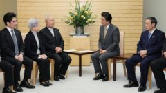 abe kantei 240x135 일본 평창동계올림픽 한반도기 독도 표시에 반발