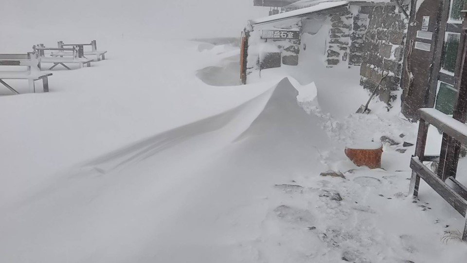 kurodake snow 일본 홋카이도 대설산(大雪山) 아사히다케(2291m) 올해 첫눈