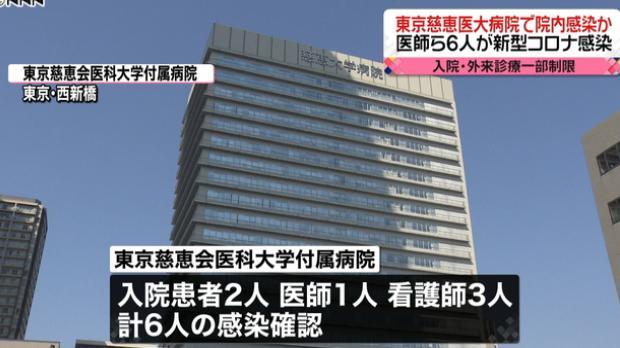 일본병원 코로나19 집단감염 도쿄, 기후현, 후쿠오카현, 사가미하라시 종합병원 코로나 집단감염 발생