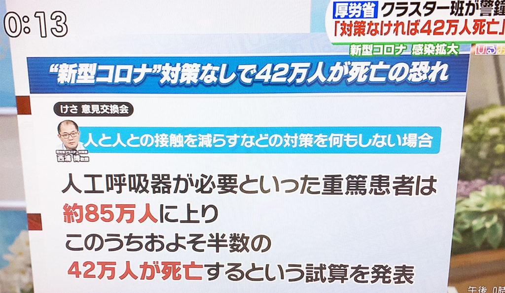 일본코로나사망자 1024x594 일본 후생성 전문가, 코로나19 대책없으면 중환자 85만명중 사망자 42만명