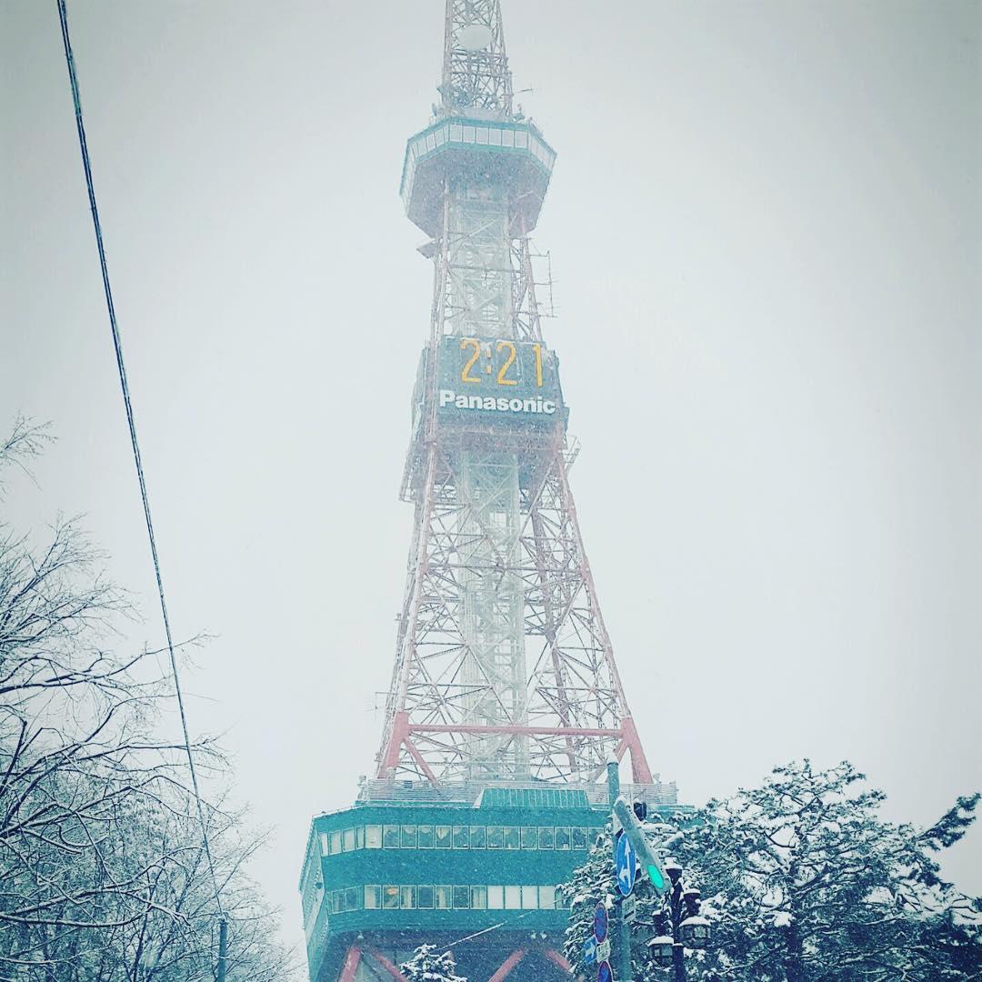 sapporo tv tower 일본여행 홋카이도 삿포로 tv탑 삿포로타워 눈밭