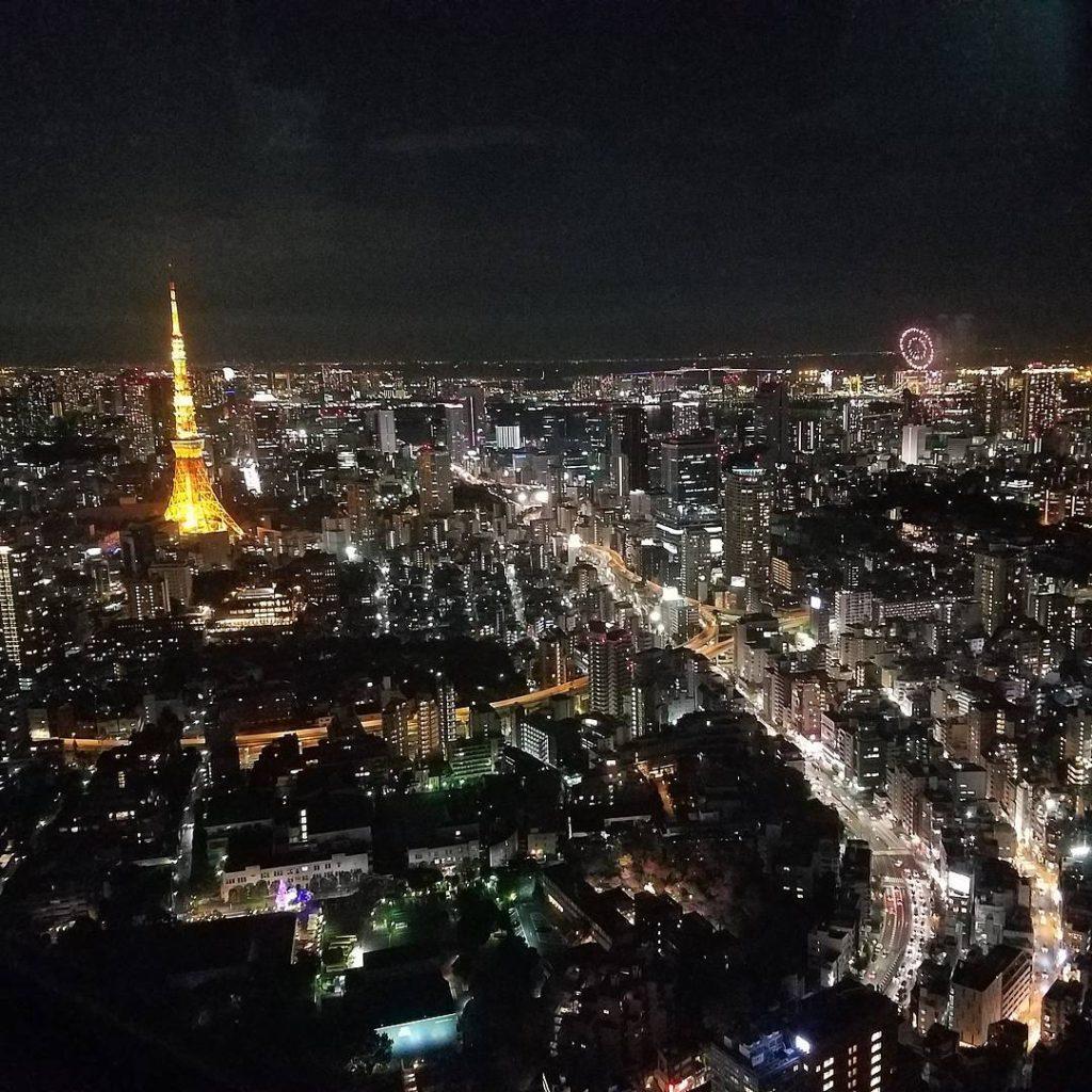 tokyo tower nightscape 1024x1024 롯폰기 힐즈에서 본 도쿄타워 야경