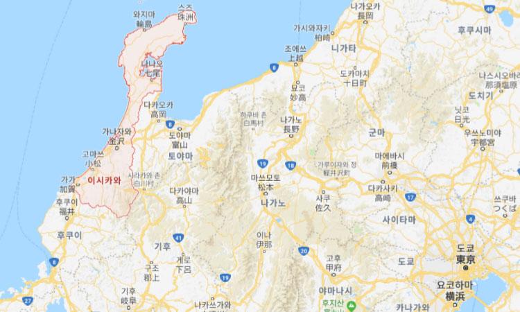 이시카와 가나자와 지도 미인이 많은 일본 이시카와현 가나자와 탐방