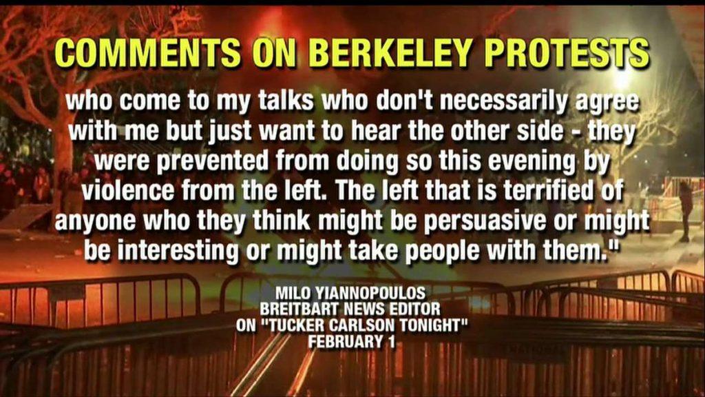 Berkeley protests2 1024x576 미국 UC버클리 학생들 폭력시위! 여론조사서 트럼프 탄핵 희망 40%