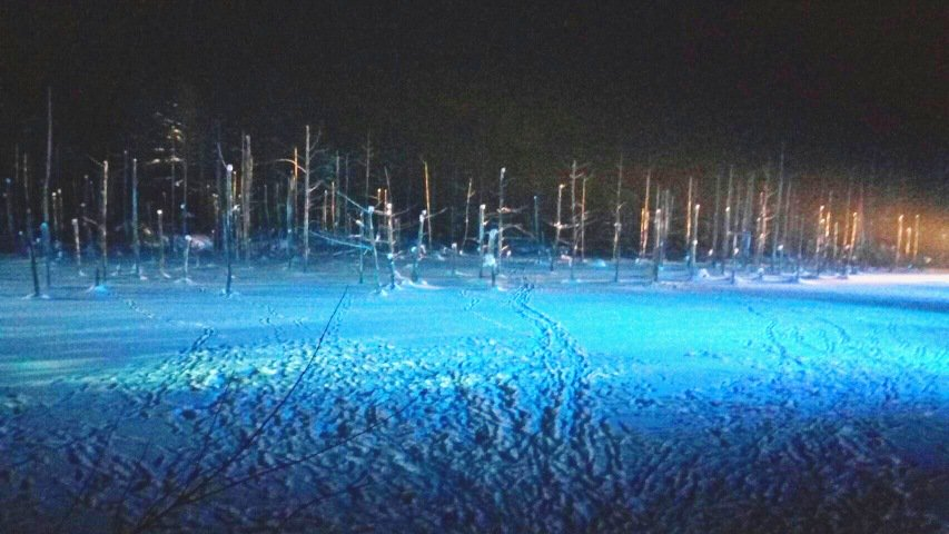biei blue lake winter 홋카이도 인기 관광지 비에이의 설경! 흰수염폭포 등 명소 겨울풍경