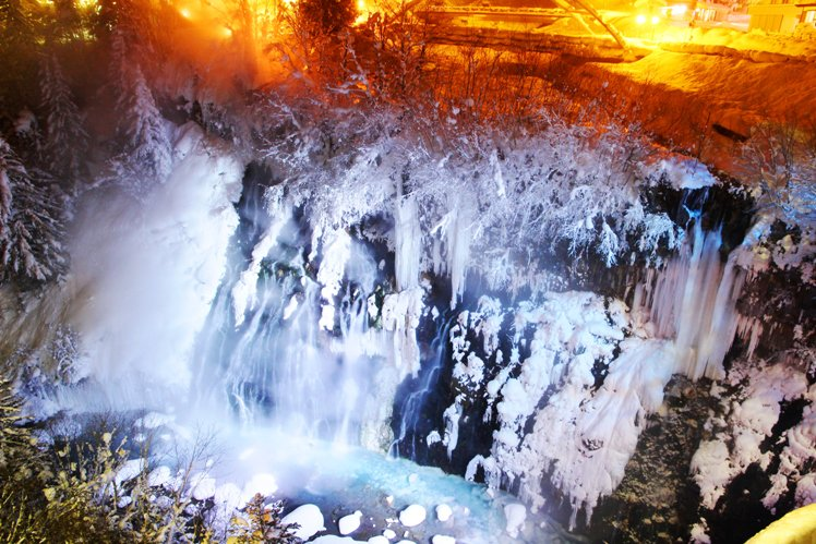 biei white fall 홋카이도 인기 관광지 비에이의 설경! 흰수염폭포 등 명소 겨울풍경