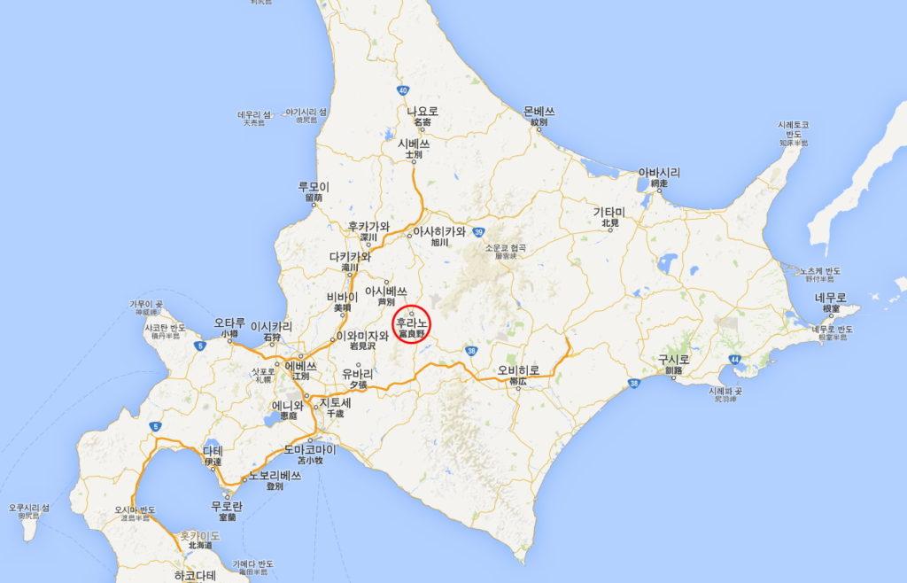 hokkaido map 1024x658 [홋카이도 여행] 삿포로 식도락 여행 1~4편 노보리베츠온천